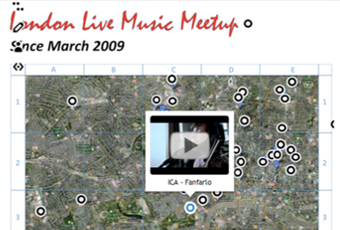 London Live Music Meetup – Interactive Music Map